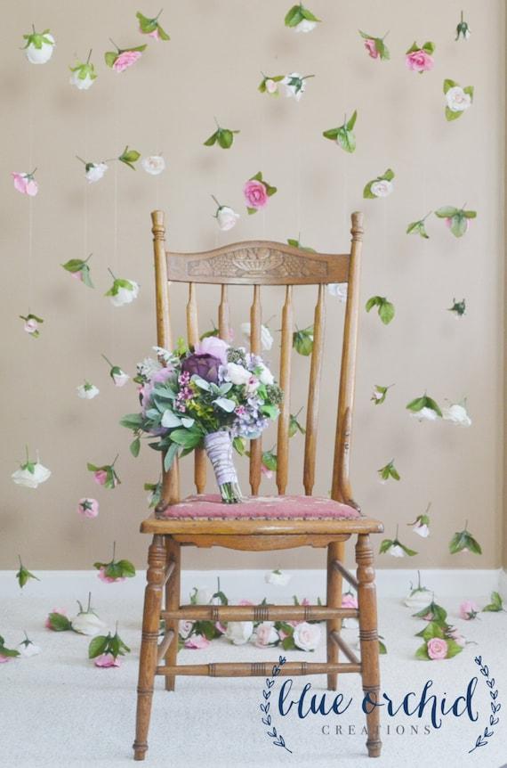 Wedding backdropsilk flower curtain hanging flowers hanging etsy image 0 mightylinksfo
