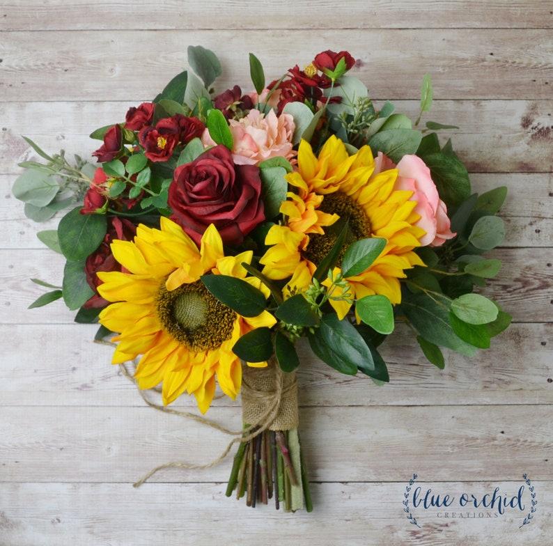 fall bouquet yellow fall wedding flowers bridal bouquet sunflower bouquet boho bouquet red wedding flowers wedding bouquet pink