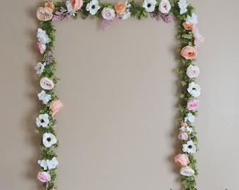 Wedding Garland, Wedding Backdrop, Flower Garland, Flower Backdrop, Silk Flower Garland, Wedding Decoration, Boho Wedding, Silk Flowers