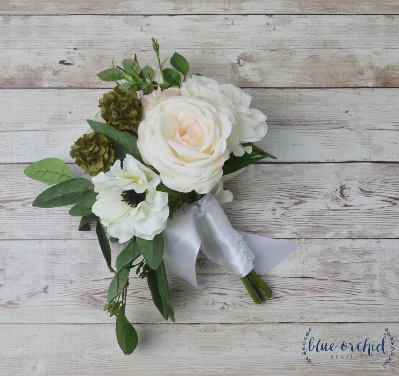 Bridesmaid bouquet silk flower bouquet artificial bouquet etsy zoom izmirmasajfo