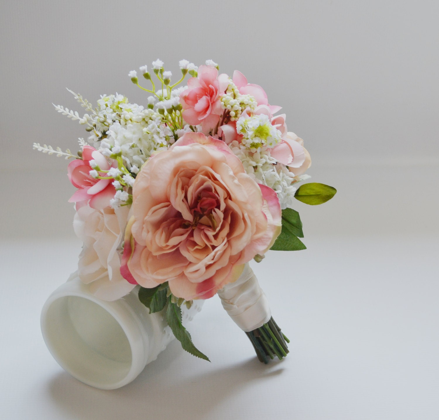 Blush and ivory bridesmaid bouquet bridesmaid bouquet rustic etsy zoom izmirmasajfo