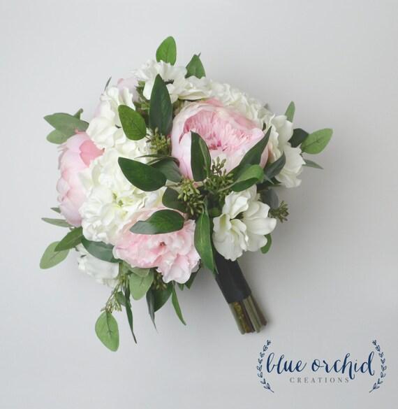 Peony Bouquet Silk Bouquet Wedding Bouquet Blush Blush | Etsy