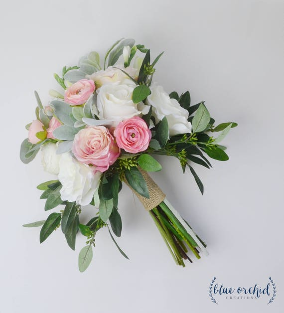 Wedding Bouquets Not Flowers: Wedding Flowers Wedding Bouquet White Bouquet Eucalyptus