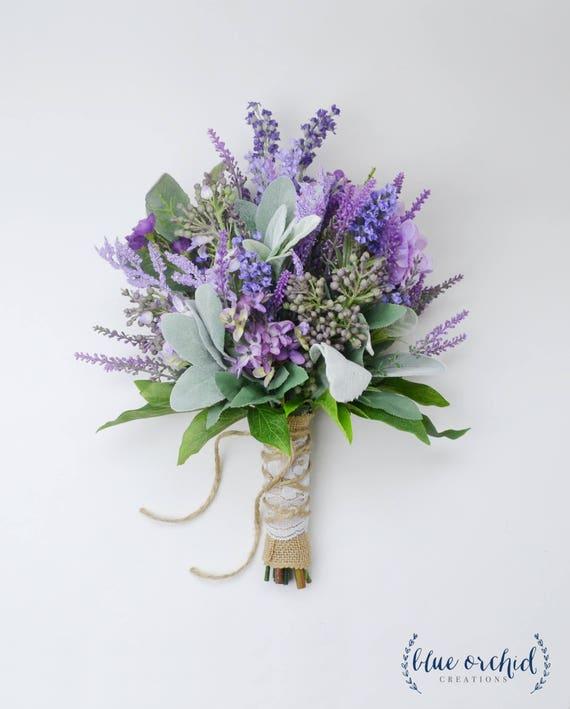 Bouquet Sposa Lavanda.Bouquet Bouquet Da Sposa Lavanda E Lilla Bouquet Fiori Di Etsy