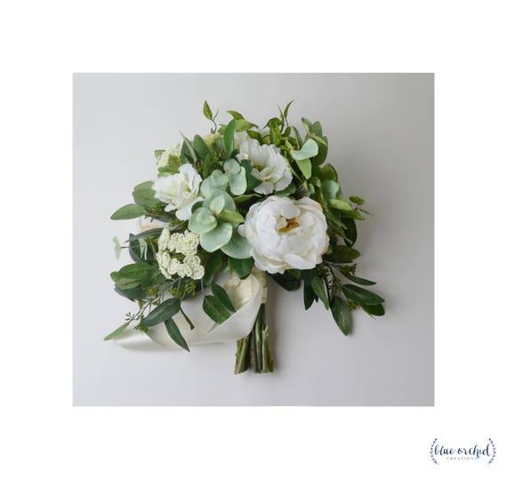 Wedding Bouquet Boho Bouquet Bridal Bouquet Greenery | Etsy