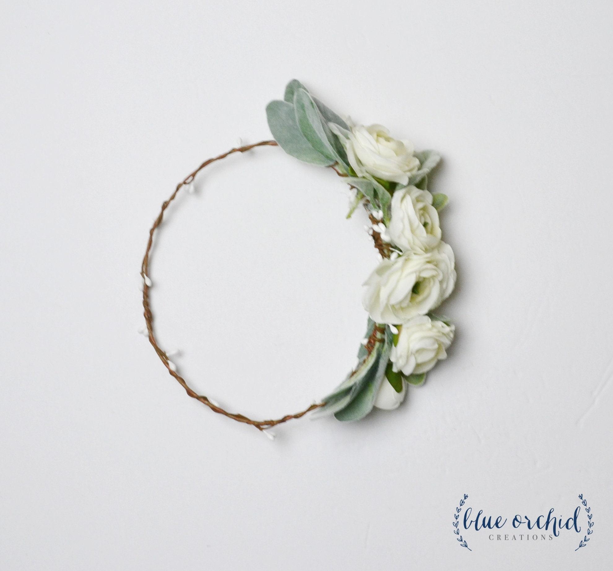 Silk Flower Crown Peony Crown Flower Crown Boho Crown Hair Etsy
