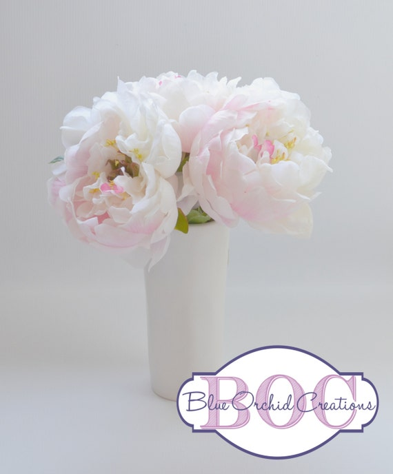White Peony Bouquet Wedding Bouquet Small Bouquet Small Etsy