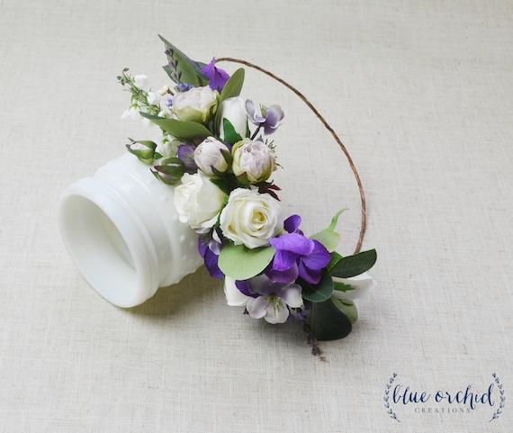 Flower Crown Purple: Flower Crown Purple Flower Crown Boho Wedding Boho Floral