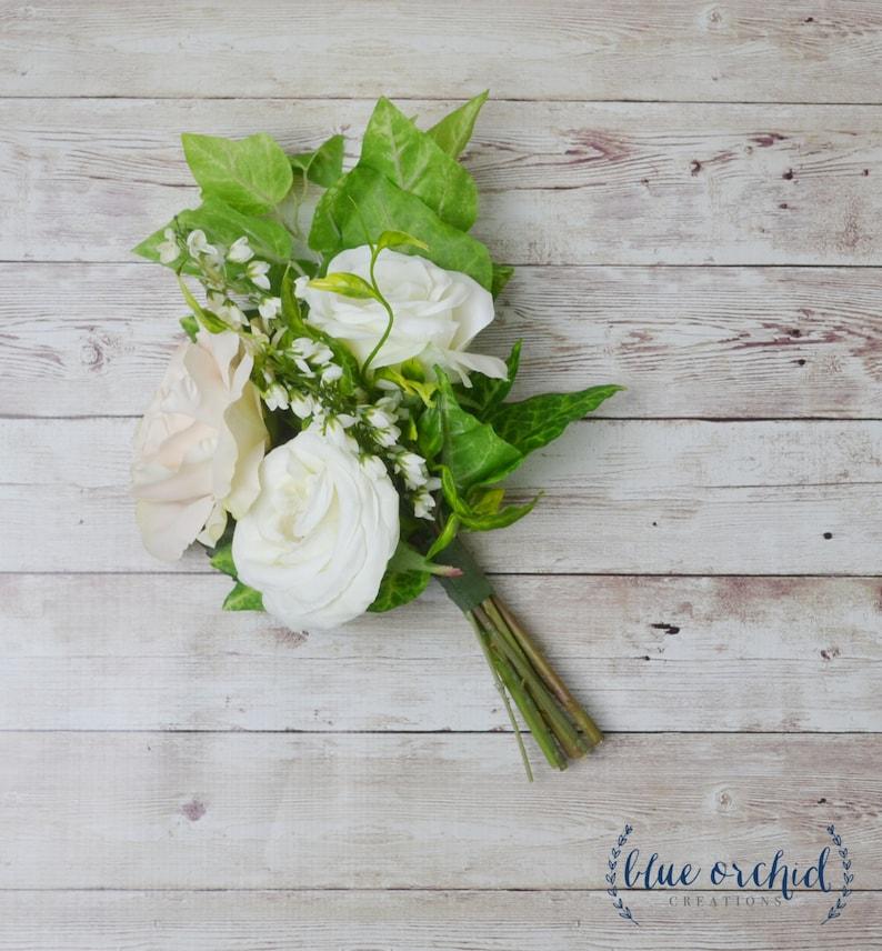 Rose Bouquet Boho Bouquet Bridesmaid Flowers Bridesmaid Bouquet Greenery Bouquet Faux Bouquet Silk Flowers Boho Bridesmaid Bouquet