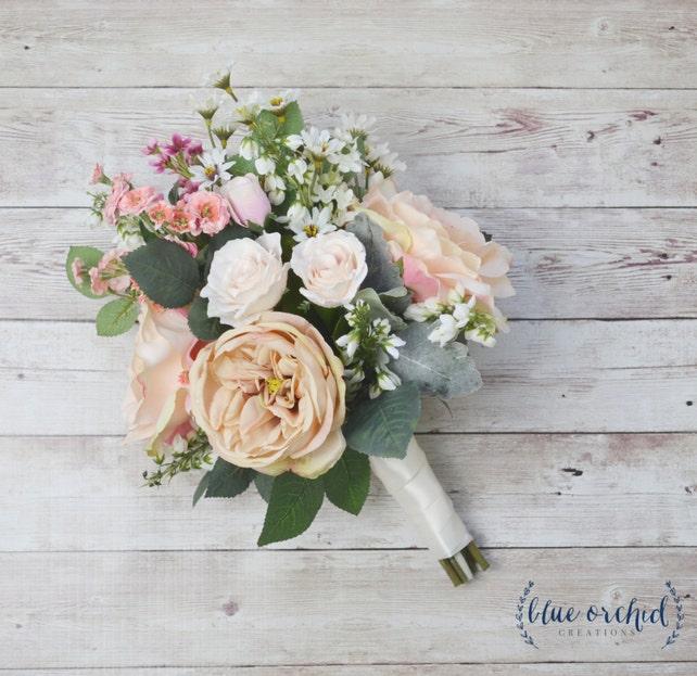 Boho Wedding Bouquet Silk Wedding Bouquet Wildflower | Etsy