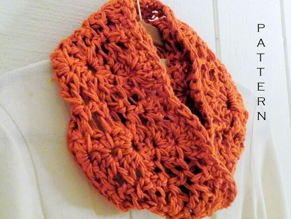 Crochet Pattern Chunky Lace Infinity Scarf Pattern Diy Circle Etsy
