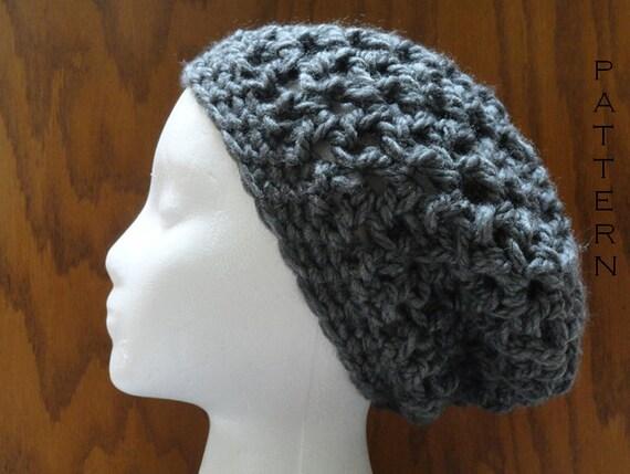 Crochet Pattern Chunky V Stitch Slouchy Beanie Hat Pattern Etsy