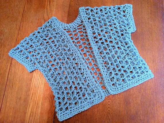 Crochet Pattern Quick Lattice Cardigan Shrug Diy Easy Big Hook Etsy
