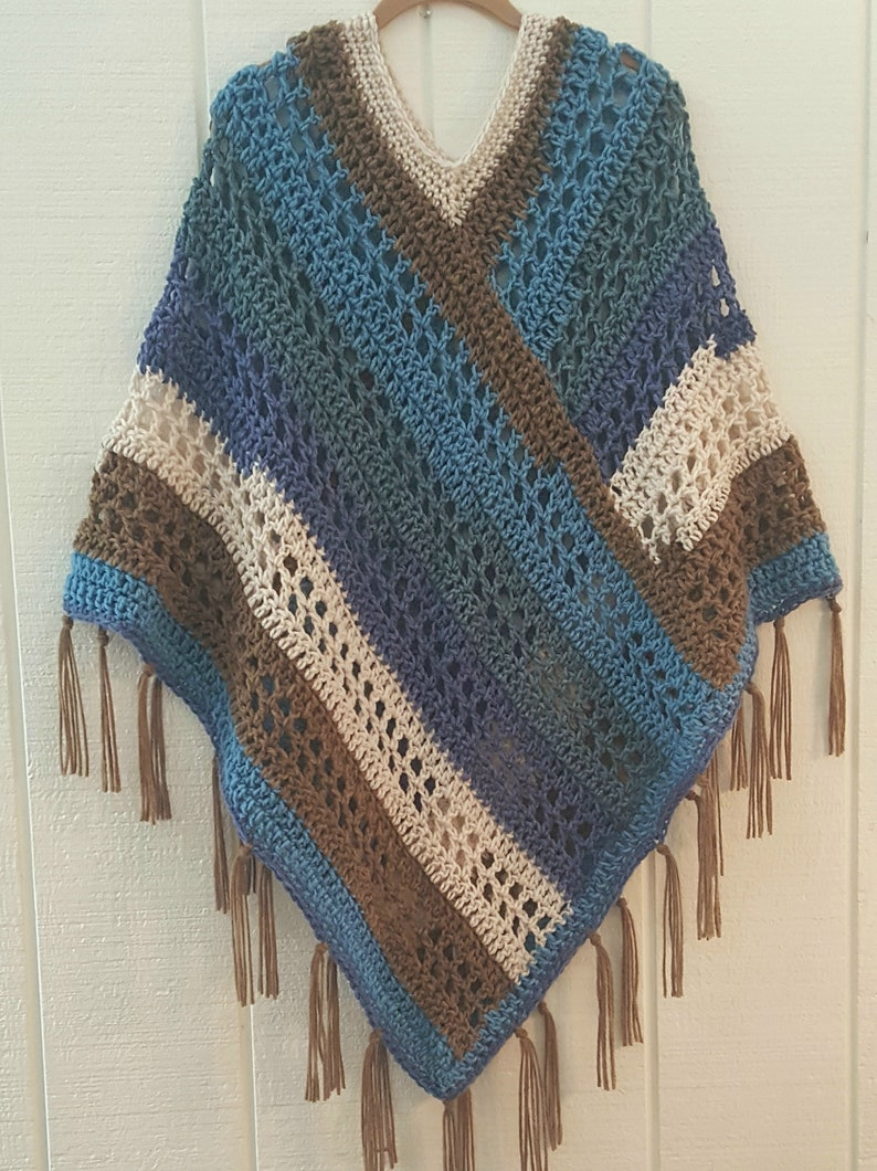 Crochet Poncho PATTERN  Easy Weekend Poncho  Poncho with image 7