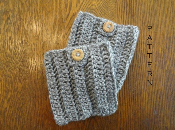 Crochet Boot Cuffs Pattern Button Tab Boot Cuffs Diy Boot Etsy