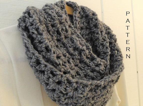 Crochet Pattern Infinity Scarf Chunky V Stitch Loop