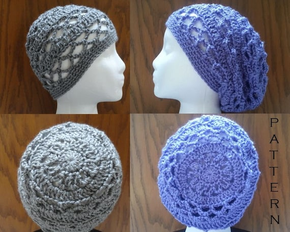 Crochet PATTERNS Breezy Lattice Beanie and Slouchy Beanie Hat  db165f2e425