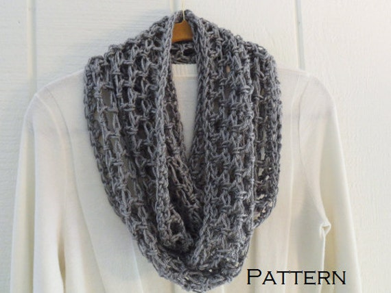 Crochet Infinity Scarf Pattern Lattice Lightweight Pdf Pattern Etsy
