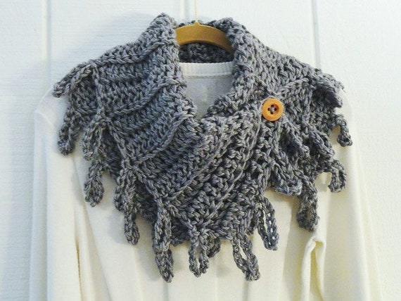 Crochet Pattern Bundle Scarves Loopy Fringe 5 Big Hook Designs Etsy