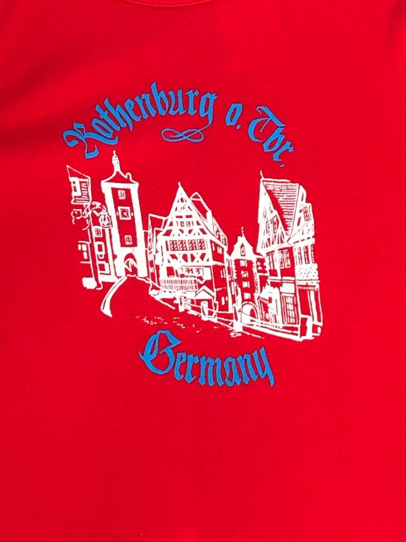 Vintage Rothenburg ob der Tauber Germany Graphic T-Shirt image 0