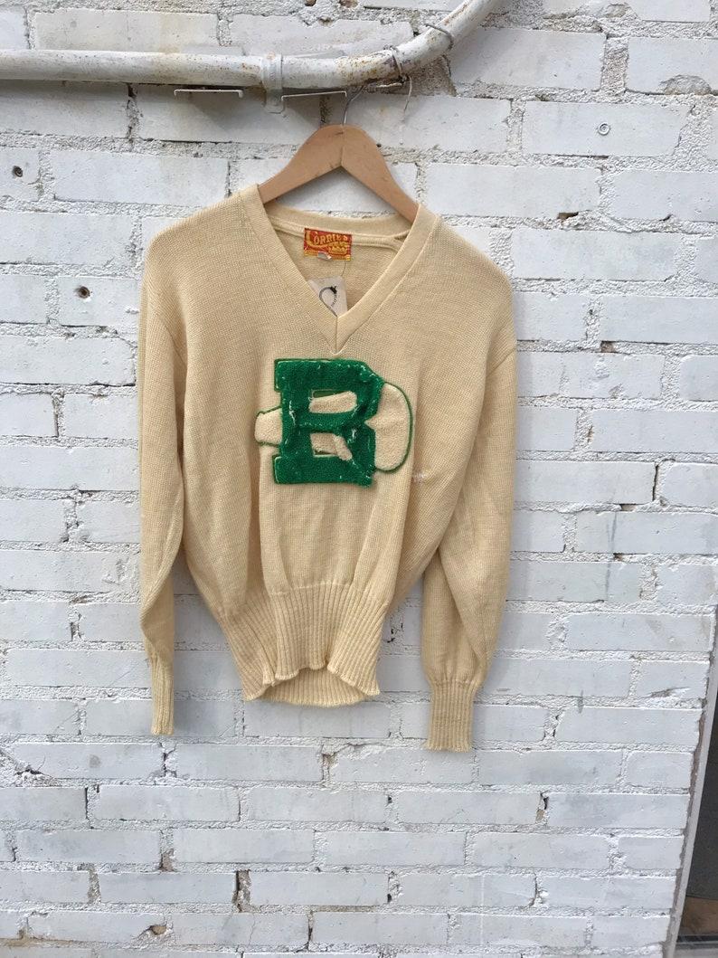 1950s Corries Wool Varsity cheer cheerleader Sweater image 0