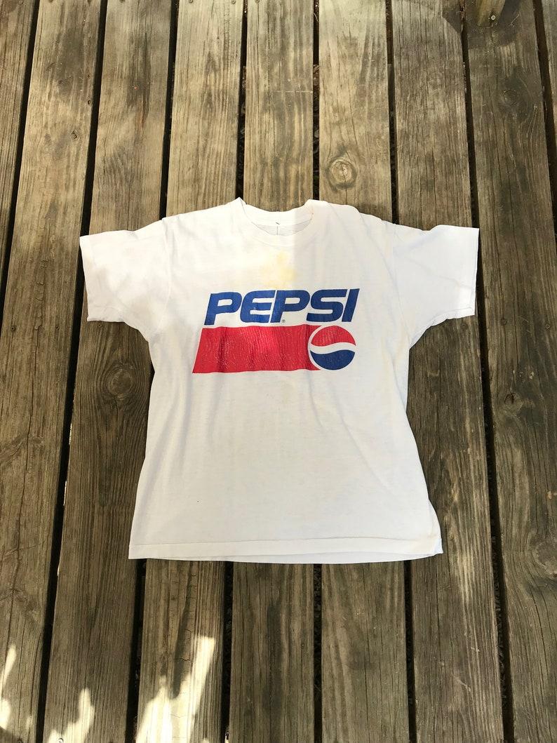 1980s Vintage Pepsi Logo Graphic T-Shirt image 0
