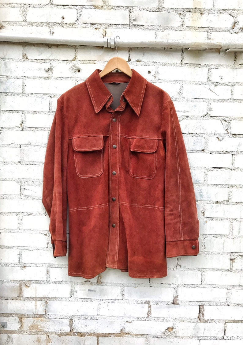 1970s William Barry Red Suede Jacket / Oustabout by William image 0