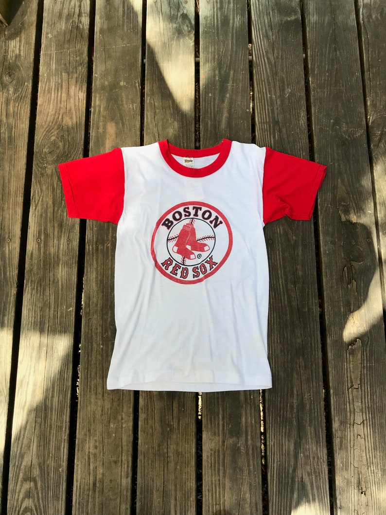 1980s Vintage Boston Red Sox Raglan T-Shirt image 0