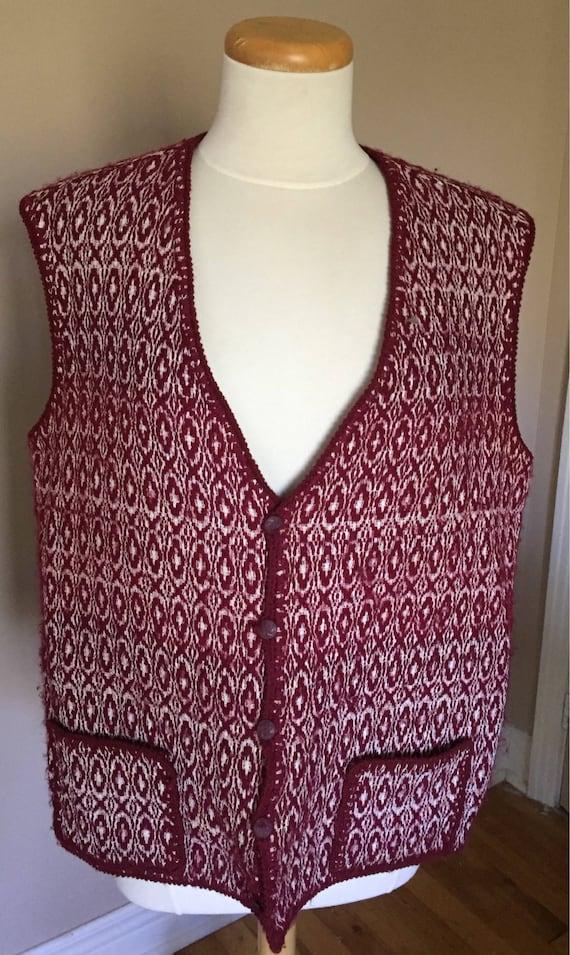 Vintage Linsey Woolsey Mens Vest