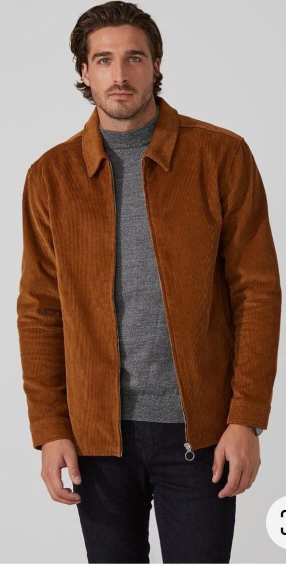 Frank & Oak Men's Casual Corduroy Zip Jacket