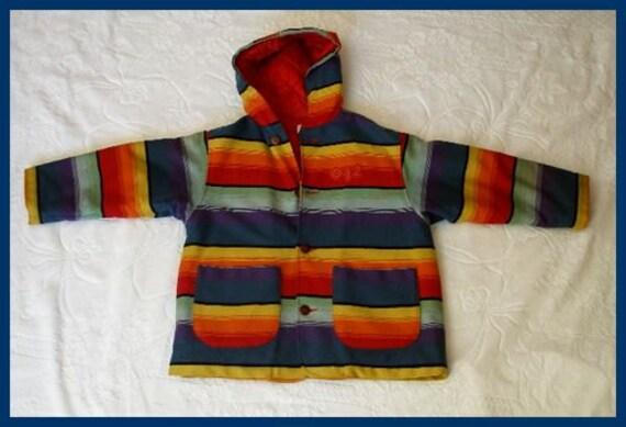 Vintage Benetton Camp Blanket Childs Jacket