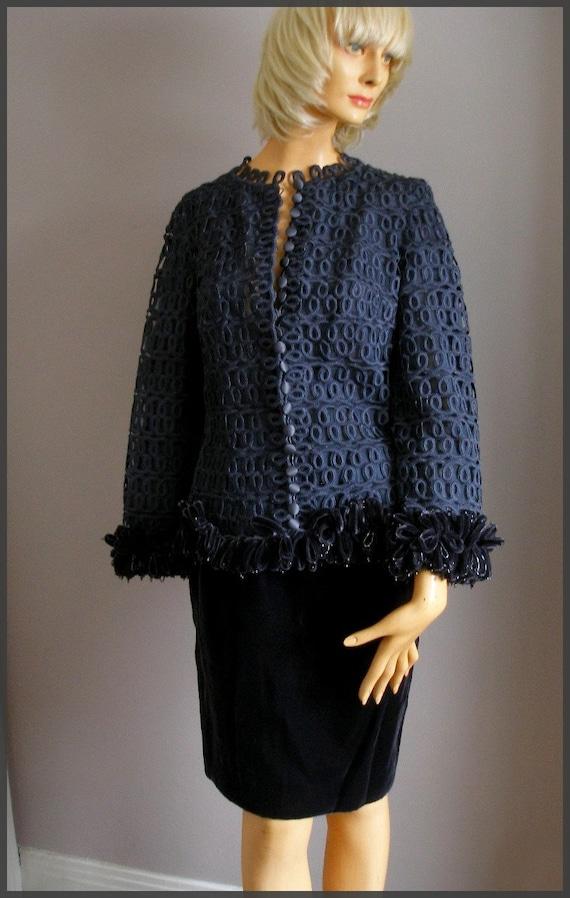 Vintage Raniero Gattinoni Italy Velvet Suit Skirt