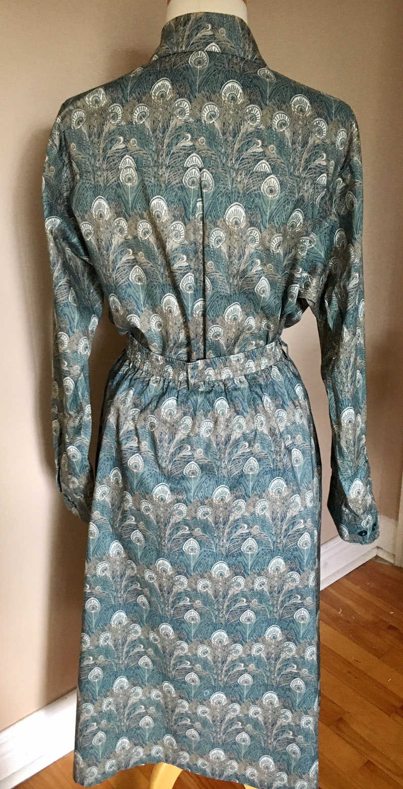 Tilley Endurables Liberty Of London Peacock Feather Skirt And Blouse Set