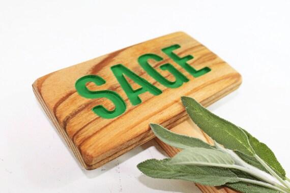Signe de jardin d\'herbes aromatiques SAUGE, peinturé et bois de ...