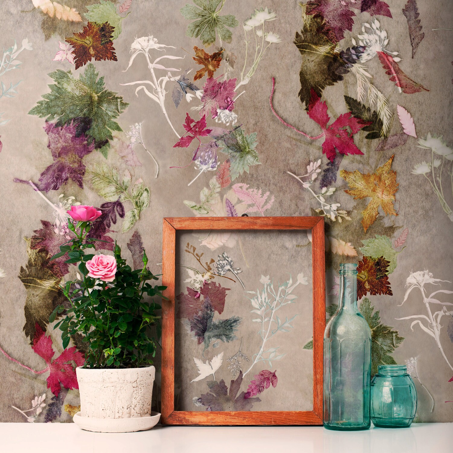 Floral Botanical Wallpaper Floral Dance Design Bold Home Etsy