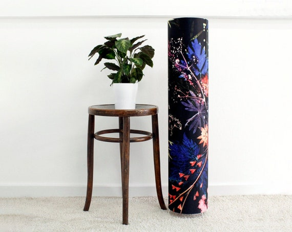 Handmade Floral Botanical 1 meter tall Floor Lamp, Blue Wreath Design, Compliments Home Interiors, Perfect Home Décor