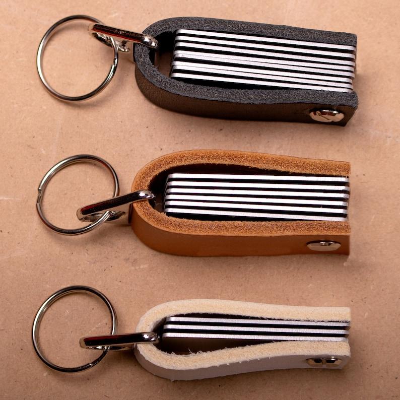 Personalised Leather Keyring Key Ring Gift Personalised image 6
