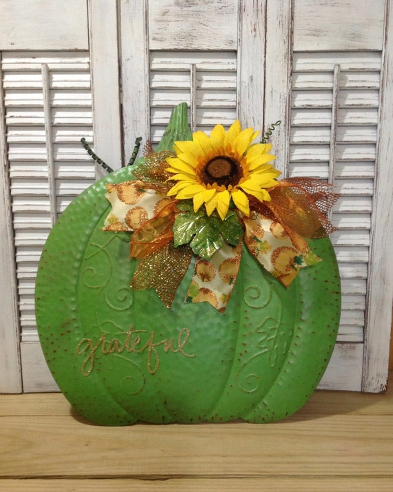 Sale Fall Decor Pumpkin Front Door Decorcenterpiece Etsy