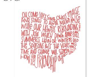 """The Ohio State University """"Carmen Ohio"""" Lyrics"""