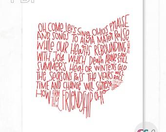 The Ohio State University Carmen Ohio Lyrics