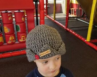 Jughead beanie/Hand Made Crochet Riverdale Jughead Beanie/Jughead hat/Jughead Jones/Riverdale Hat/gray hat/crochet crown/Riverdale Beanie