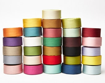 May Arts 1.25 Inch 100% Hand-Dyed Silk Ribbon with Woven Edge
