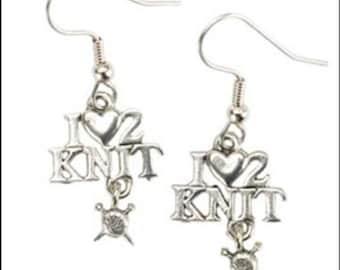 Love 2 Knit Earrings
