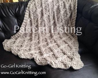 Salerno Chunky Knit Blanket Pattern