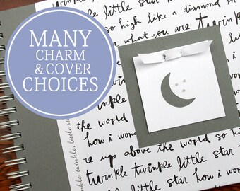 Personalized Pregnancy Journal   Pregnancy Gift   Pregnancy Memory Book   Gender Neutral   Twinkle, Twinkle, Little Star with Moon & Stars