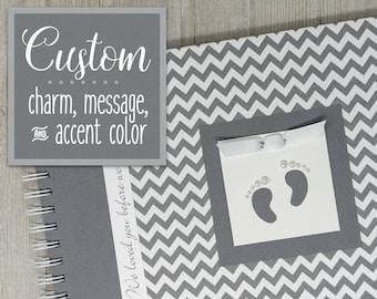 Pregnancy Journal   Gender Neutral   Pregnancy Gift   Pregnancy Book   Gray Chevron + Gray