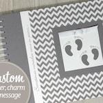 Twin Pregnancy Journal * Personalized pregnancy book for twins * Gray Chevron