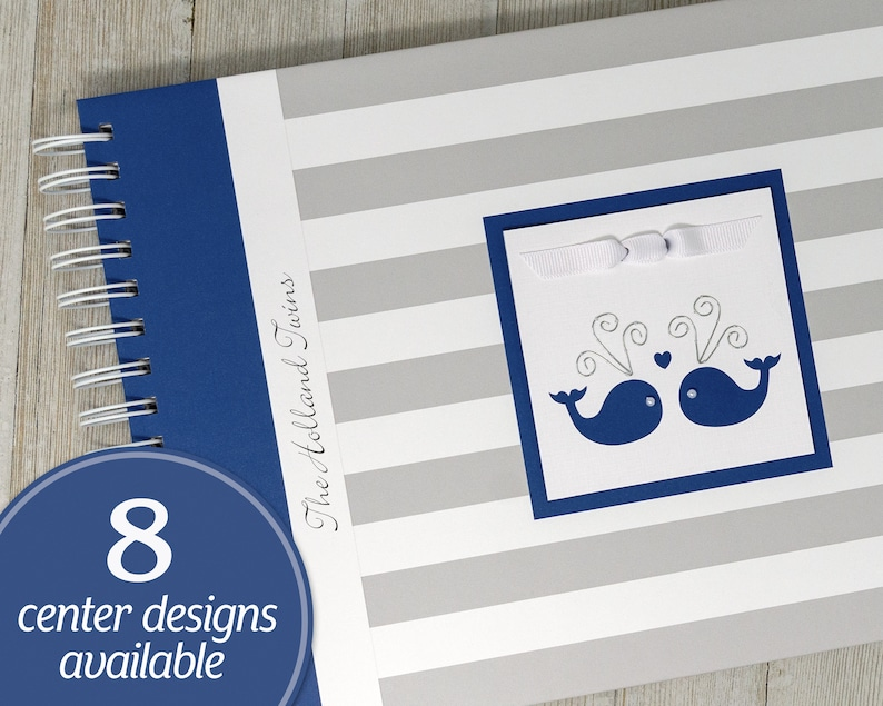 Twin Pregnancy Journal  Personalized Whale Pregnancy Book for image 0