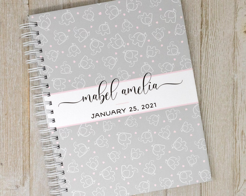 Baby Memory Book  Hard Cover Personalized First Year Baby image 0
