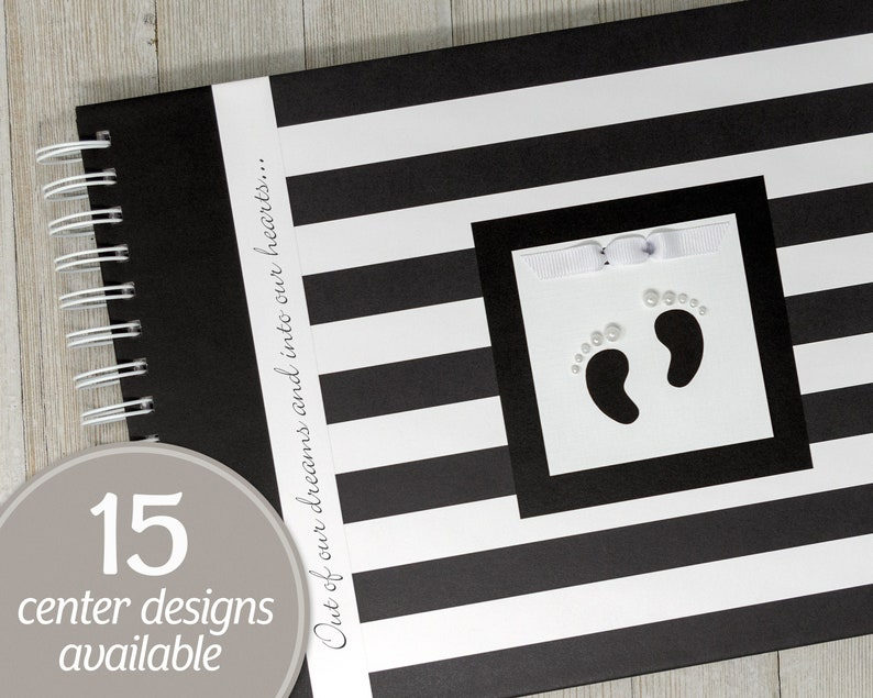 Baby Memory Book  Personalized First Year Baby Book  Black & image 0